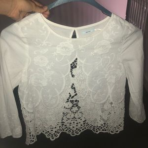 XS Urban Outfitters Holly Lace Embroidered Blouse